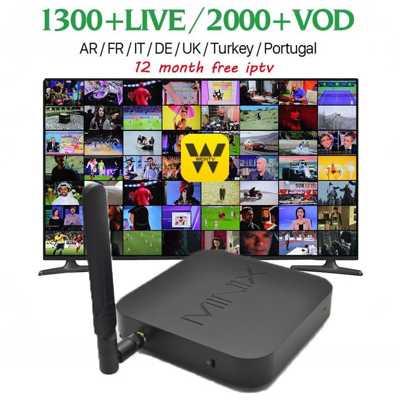 Wechip Minix NEO Z83-4 Smart TV Box Gigabit 802.11AC Dual-Bande WIFI BT4.2 4G + 32G Officiel Windows10 Cerise Fanless Atom TV Box