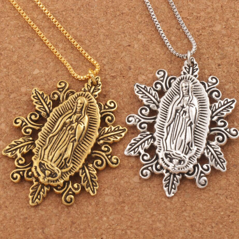 my over blessings wearable head necklace pendant in saint hero with pearl gold of antique scapular grace garment