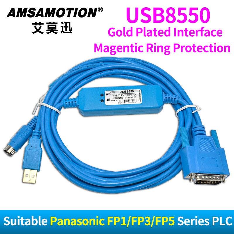 USB8550 Approprié Panasonic Nais FP1 FP3 5E PC Série PLC Programmation Câble Télécharger Ligne USB-AFP8550