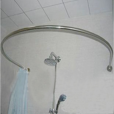 Copper 304 Stainless Steel U Shower Curtain Rod 90 90cm Measurement Customize
