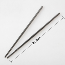 1 Pair Stainless Steel Chopsticks Non-slip Reusable Chopstick Home Kitchen Food Sticks Hot Sale