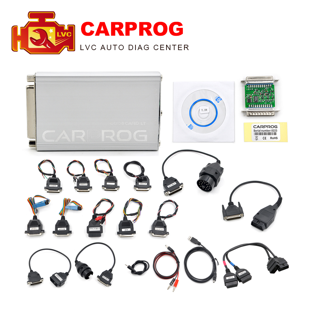 CARPROG Full Set V10.0.5 Programmer Auto Repair Airbag Reset Tools Car Prog ECU Chip Tuning Full 21 Adapters-in Code Readers & Scan Tools from Automobiles & Motorcycles on
