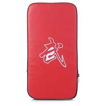 New 1pcs Red Black Rectangle Focus Boxing Kicking Strike Hand Foot Punching Pad Power Punch  Martial Arts Training Equipment Q glove on flat punching mitts for boxing and martial arts training color assorted