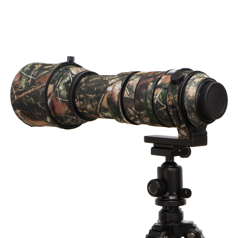 Lente bolsa goma Cámara lente cubierta protectora Camo para Sigma 150 600mm deporte versión Cámara lente abrigo camuflaje fotografía
