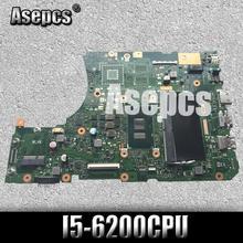 X556UA/X556UJ I5-6200CPU с оперативной памятью 4 ГБ DDR3L памяти платы REV2.0 для ASUS X556UA X556UJ X556UV X556U Материнская плата ноутбука испытания