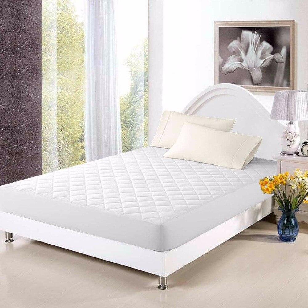 Giantex 5 tailles protège matelas couverture pour lit blanc Quilting lit Pad draps housse chambre imperméable matelas couverture HT0907