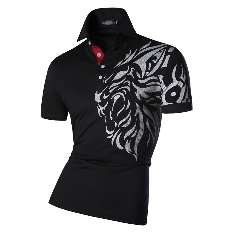 New 2019 Mens Summer Fashion Casual   Polo   Shirt Designed Short Sleeves Shirt Slim Fit Trend Solid color 4 Colors S M L XL U016