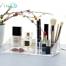 Crystal Acrylic Cosmetic box Organizer Makeup Jewelry Storage Lipstick make up brush