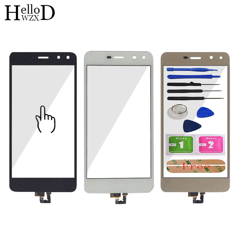 Mobile Phone Front Glass For Huawei Y5 2017 Y5III MYA-L22 MYA-L23 Touch Screen Glass Digitizer Panel Lens Sensor Tools Adhesive