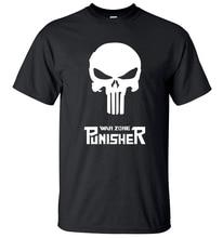 Lasting Charm Sports T Shirts The Punisher Skull Men Shirt Short Sleeve Fit T-shirts