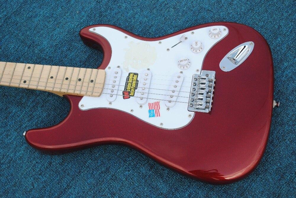 Factory store black Eric Clapton stratocaster signature maple fretboard 6 string Chrome Hardware Electric Guitar