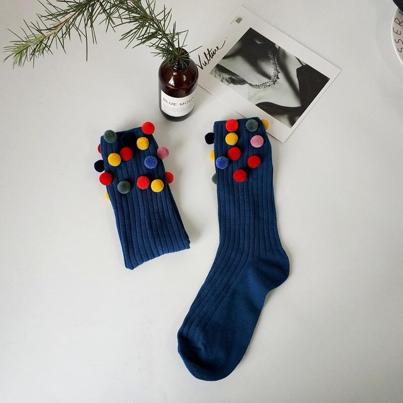 Super Cute Pom Pom Socks