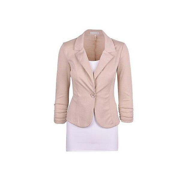S-xxxl бесплатная доставка 2016 осень свободного покроя тонкий короткий дизайн одной кнопки куртки офис женщины пальто одежда 891