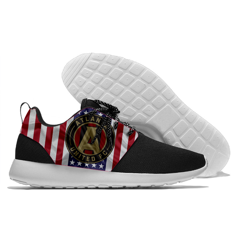 big sale 3452c ad2ff US $28.79 20% OFF|New Running shoe Major League Football Atlanta United FC  design light walking shoes Men and Women shoes-in Running Shoes from Sports  ...