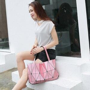 Image 3 - Moda pembe sac bayan çantası elmas Tote geometrik kapitone omuz çantaları kadın çanta kadınlar için 2020 bolsa feminina ana kesesi