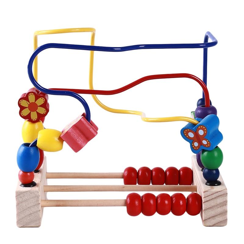 Baby Kind Puzzle Holz Runde Perlen Spielzeug Kinder Neugeborene Krippe Kinderwagen Montessori Pädagogisches Spielzeug Perlen Geschenk Einfach Zu Verwenden