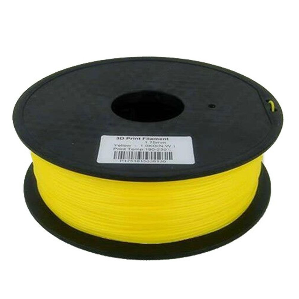 1.75mm Yellow PLA 3D Printer Filament - Dimensional Accuracy +/- 0.05mm - Multiple Color Choices