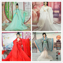 Handmade Doll clothing for KURHN Chinese Ancient Costume Clothes for 29cm Jointed 1/6 BJD doll Girl Toys Gifts Dolls Accessories