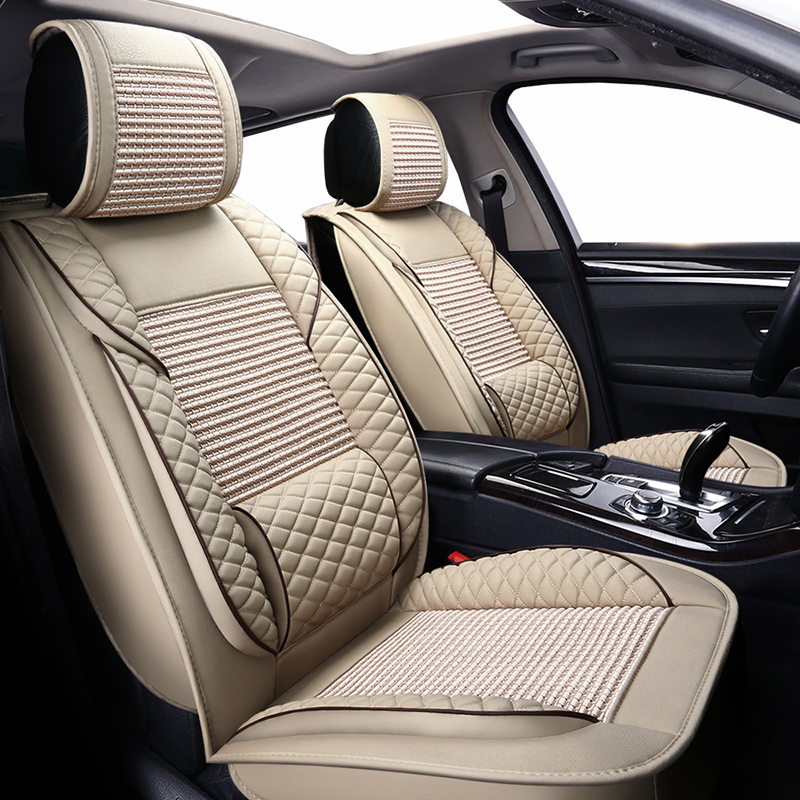 New Luxury leather ice silk universal car seat covers for Audi TT A6L R8 Q3 Q5 Q7 S4 Quattro A1 A2 A3 A4 A6 A8 CAR accessories