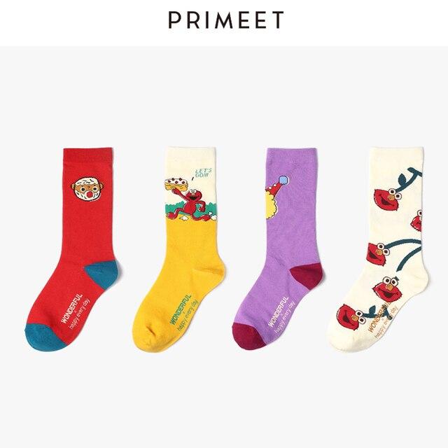 VVQI harajuku funny socks kawaii korean cute socks animal print streetwear hip hop Crazy socks cartoon women 5 pairs art socks