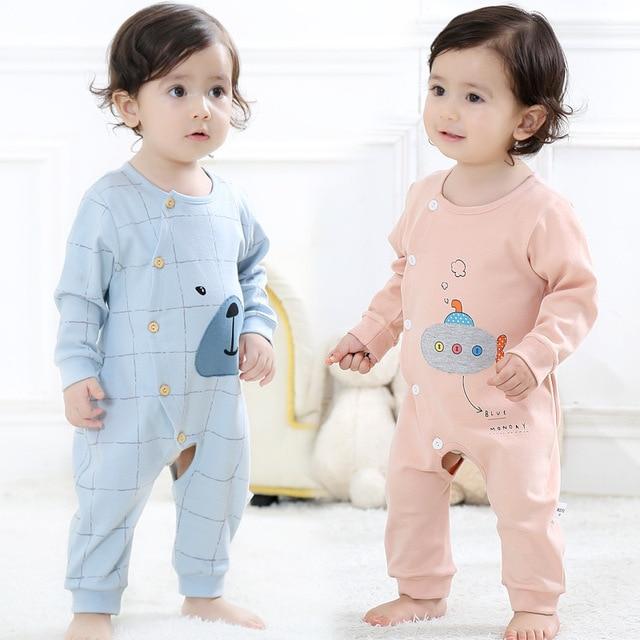 627c556ed7 Cotton Baby Pajamas Long Sleeves Cartoon One Piece Sleepwear Summer Autumn Kids  Sleepwear Fashion Kids Clothing TZ212