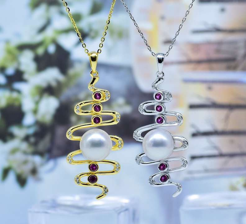 Nice Design 925 Sterling Silver Pearl Pendant Mounts Pendant Setting Findings Jewelry Parts Fittings Women Accessories