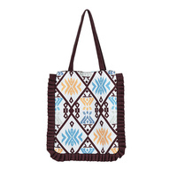 MENOGGA Eco Bag 18 Inch Large Capacity Chinese Style Unique Pattern Cloth Bag Durable Reusable Grocery Shopper Bag