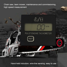 100% Sensing Tachometer Chainsaw Gesture Gasoline Engine Lawn Mower High Speed Equipment Digital Display Pulse Speedometer 3V