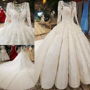 Image 2 - Aijingyu Sheer Trouwjurk Informele Bruidsjurken Coutures Naaien Engagement Met Juwelen Voor Koop Luxe Trouwjurken Buurt Me