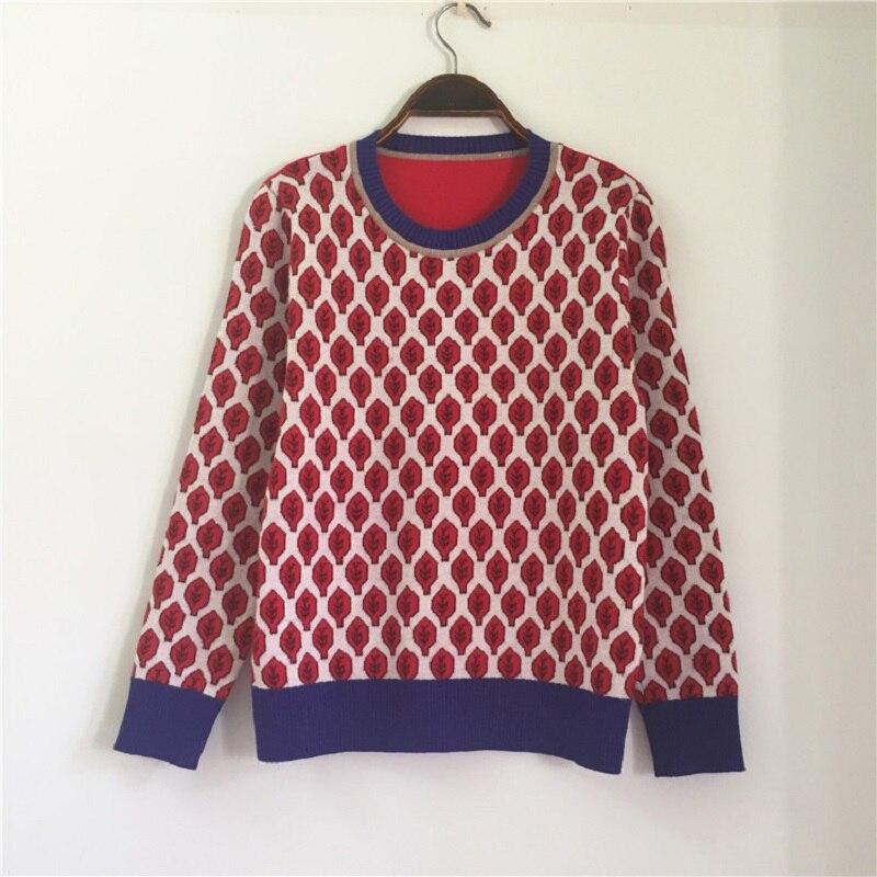 Frauen lose beiläufige strickwaren feste kurze länge retro anlage blätter pullover pullover wolle blends hülse mit drei vierteln herbst pullover