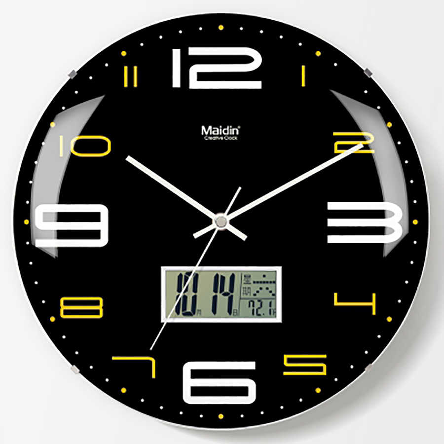 Modern Design Wall Clock Digital Vintage 3d Clock Retro Mechanism Wall Watches Home Decor Kitchen Silent Clock Home Decor 50Q135