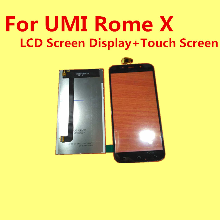 100 Original For UMI Rome X LCD Screen Display Touch Screen Replacement Accessories For UMI RomeX