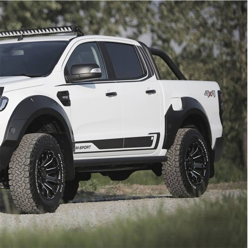 car stickers 8pc side body rear trunk atil gate stripe graphic vinyl car accessories decal custom for Ford ranger 2012 2019 in Car Stickers from Automobiles Motorcycles