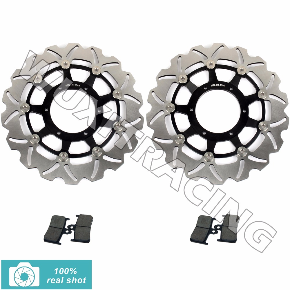 New Motorcycle Front Brake Discs Rotors + Brake Pads for HONDA CB 900 F CB900F HORNET 919 2003 2004 2005 2002-2006 02-06 starpad for lifan motorcycle lf150 10s kpr150 new front brake discs accessories