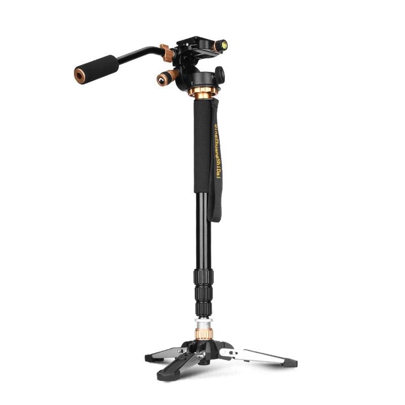 QingZhuang caméra Portable professionnel DSLR en aluminium monopode trépied et monopode Base de support avec tête pour Sony Nikon