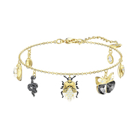 Kristie SWA Autumn New Swan New Beetle And Butterfly Clasp Bracelet, Gold plated And Crystal Jewels For Woman 5416774