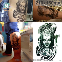 LC827/New 2015 3D Big Temporary Buddha Tattoos Designs Sticker Waterproof
