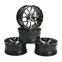 4PCS Aluminum Alloy Wheel Rims for 1:10 RC Drift On Road Racing Car Touring Upgrade Parts HSP Redcat HPI Himoto Kyosho Sakura