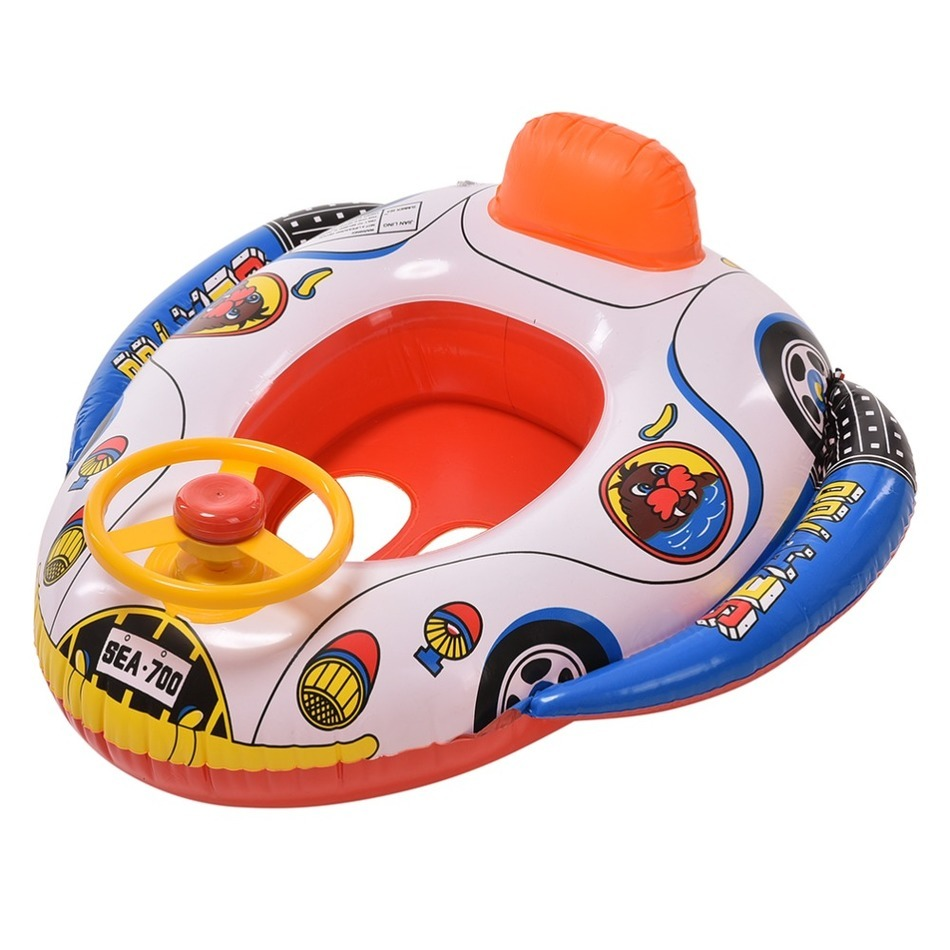 Inflatable Pool Ring Child Laps Swim Seat Float Boat