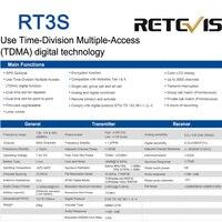 vhf uhf RETEVIS RT3S DMR Digital Radio מכשיר הקשר (GPS) 5W VHF UHF Dual Band DMR רדיו משדר Ham Radio אמאדור + תוכנית טלוויזיה (5)