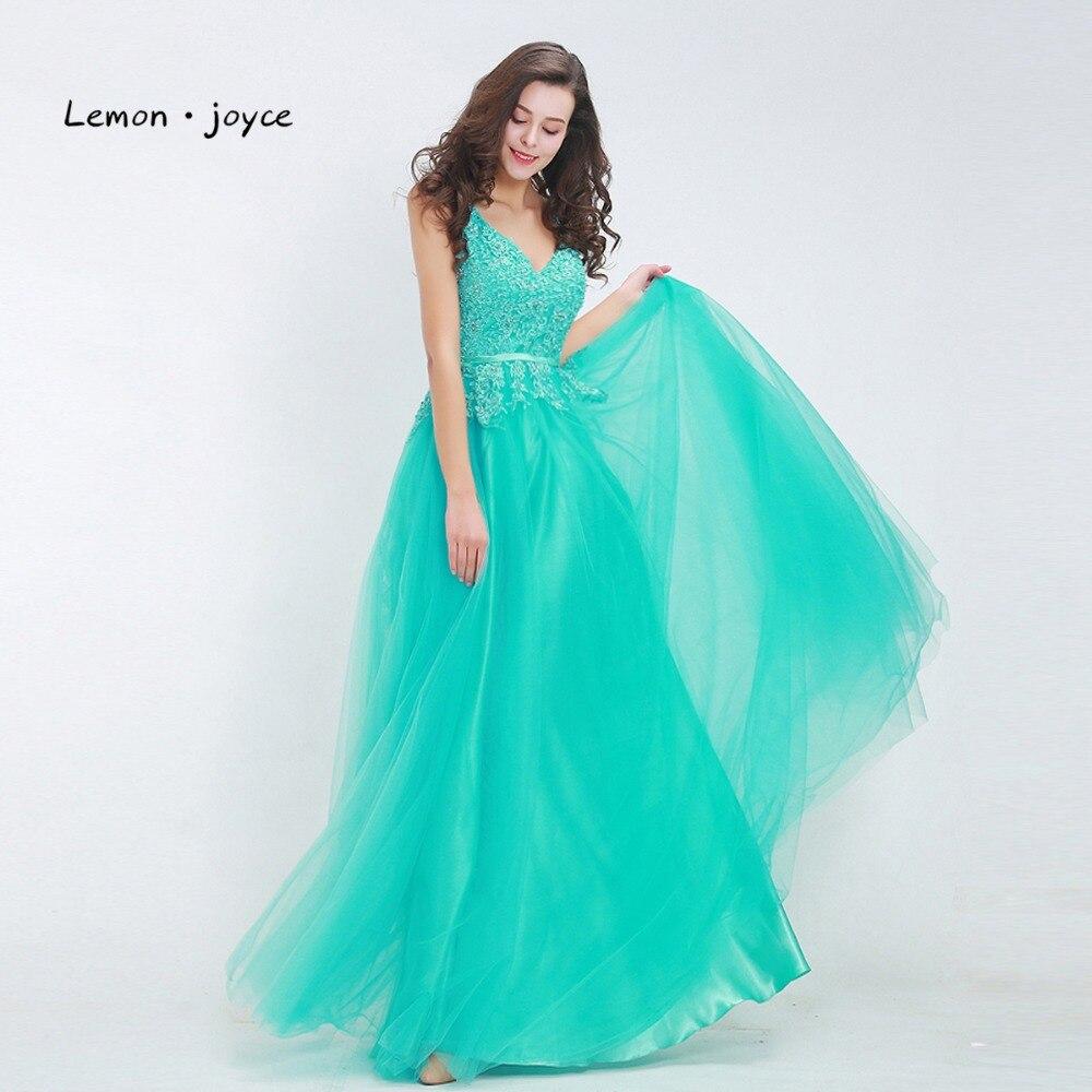 Online buy wholesale lemon bridesmaid dresses from china lemon lemon joyce plus size bridesmaid dresses v neck backless lace tulle floor length maxi ombrellifo Images