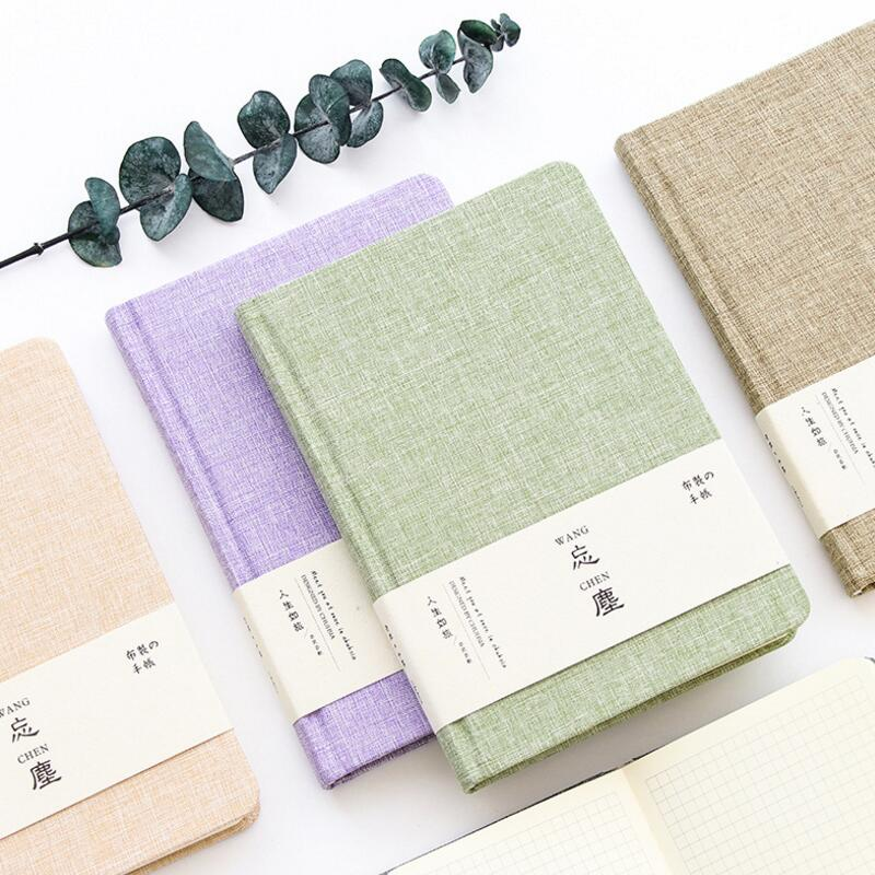 Creative Cute Fresh Style Green Purple Beige Brown Cloth A5 Traveler's Notebook Planner DIY Diary Planner Agenda Journal Notepad недорого