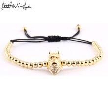 WML Sparta Warrior helmet charm men skeleton bracelet bead Macrame braided bracelets & bangles for women jewelry