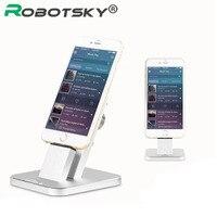 Robotsky Мода держатель телефона для Iphone 5 6 iPad Планшеты Алюминий 2 в 1 зарядки док телефона Клип Стенд крепление кронштейн Колыбели