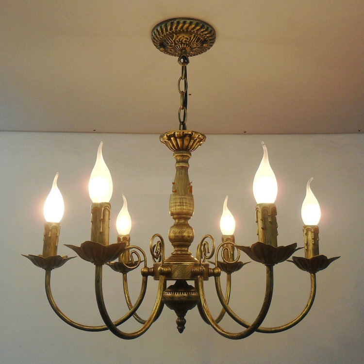 Antique Iron Chandelier Lighting Bronze Light Living Room Bed Lamp In Pendant Lights From On
