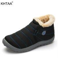 KHTAA Female Winter Ankle Snow Boots Women S Waterproof Ski Warm Plush Multi Color Couple Style