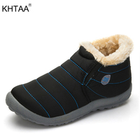KHTAA Female Winter Ankle Snow Boots Women S Waterproof Ski Warm Plush Multi Color Couple Style