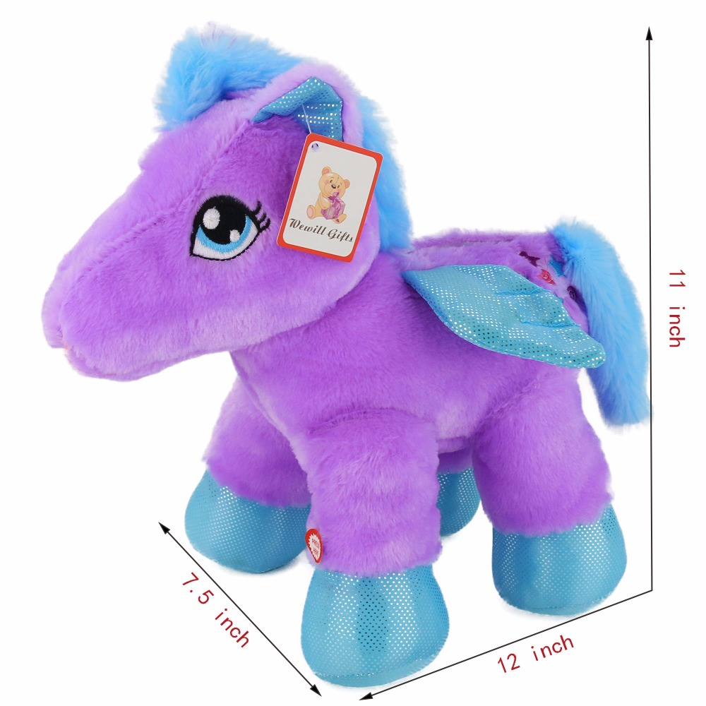 US $23 98 |Cozfay Free Shipping Dropshipping 28cm 30 Minute Timer LED  Stuffed Animal Baby Pegasus the Unicorn Christmas Gifts for Kids-in Stuffed  &