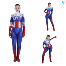 3D printing Peggy Carter Cosplay Costume 3D Printing Spandex Lycra Zentai Bodysuit Suit Jumpsuits  women costumes цена