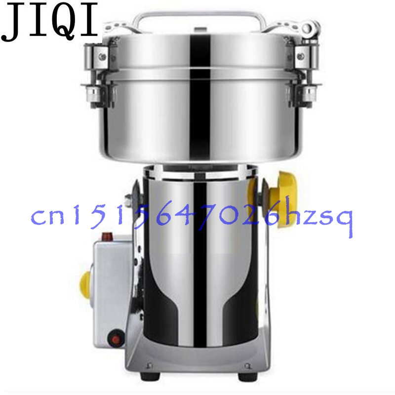 JIQI 550W 1000g Martensitic stainless steel grinder Household Multifunctional Electric grain mill machine ultrafine Powder maker high quality 1500g swing type stainless steel electric medicine grinder powder machine ultrafine grinding mill machine